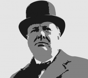 winston churchill with bowler hat